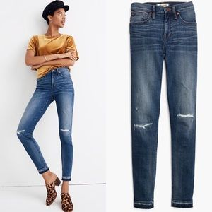 """nwt // madewell 9"""" rip & repair edition jeans"""